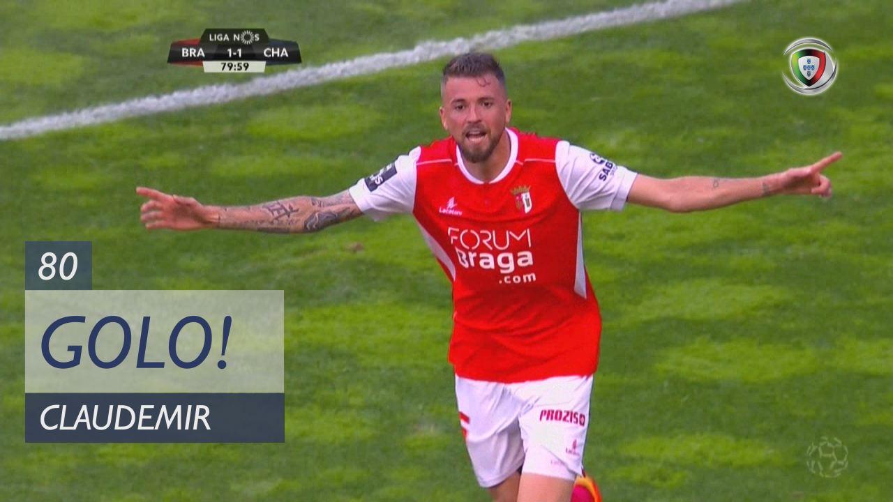 Braga Chaves: SC Braga, Golo, Claudemir, 80m, 2-1