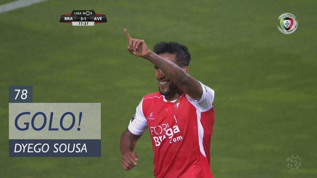 GOLO! SC Braga, Dyego Sousa aos 78', SC Braga 3-1 ...