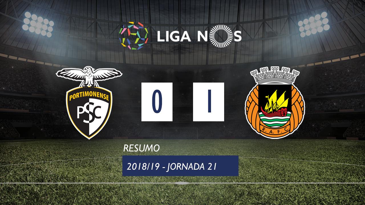 Liga NOS (21ªJ): Resumo Portimonense 0-1 Rio Ave FC