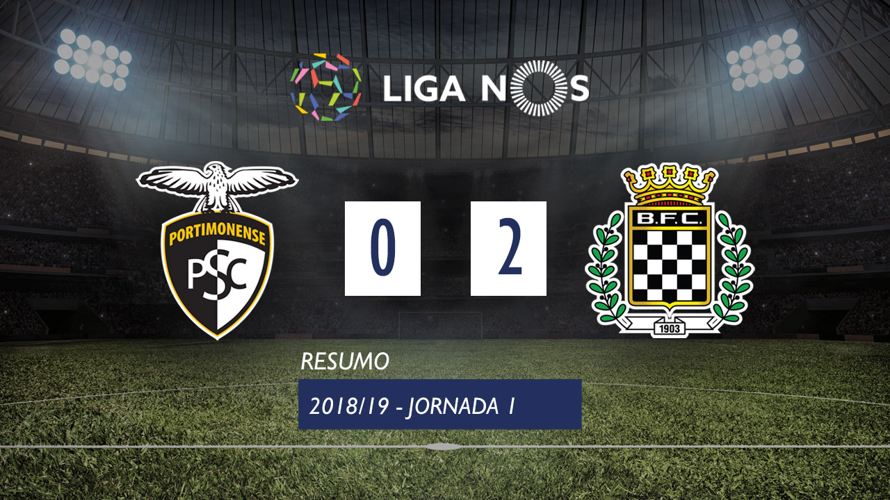 I Liga (1ªJ): Resumo Portimonense 0-2 Boavista FC