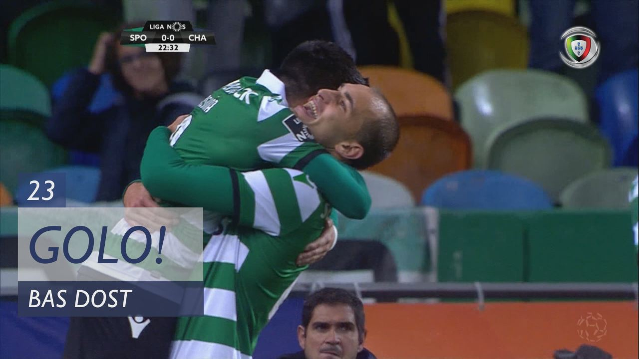 GOLO! Sporting CP, Bas Dost aos 23', Sporting CP 1-0 GD Chaves