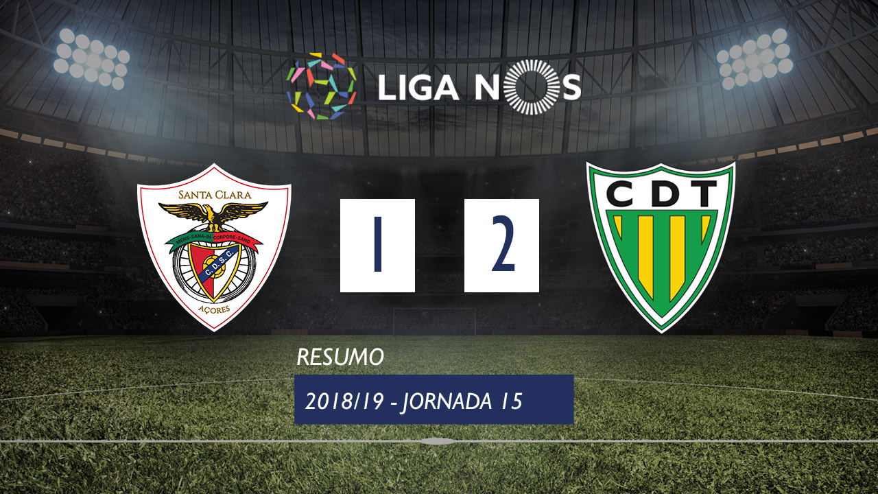 Liga NOS (15ªJ): Resumo Santa Clara 1-2 CD Tondela