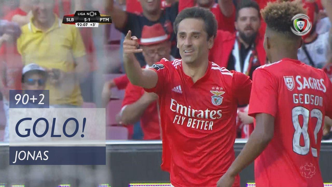 GOLO! SL Benfica, Jonas aos 90'+2', SL Benfica 5-1...