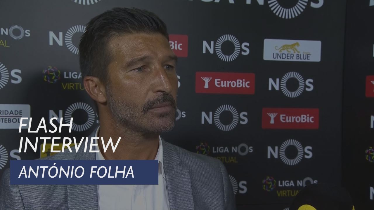 Liga (7ª): Flash interview António Folha
