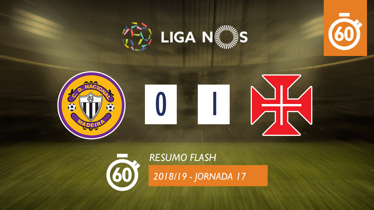 Liga NOS (17ªJ): Resumo Flash CD Nacional 0-1 Belenenses SAD