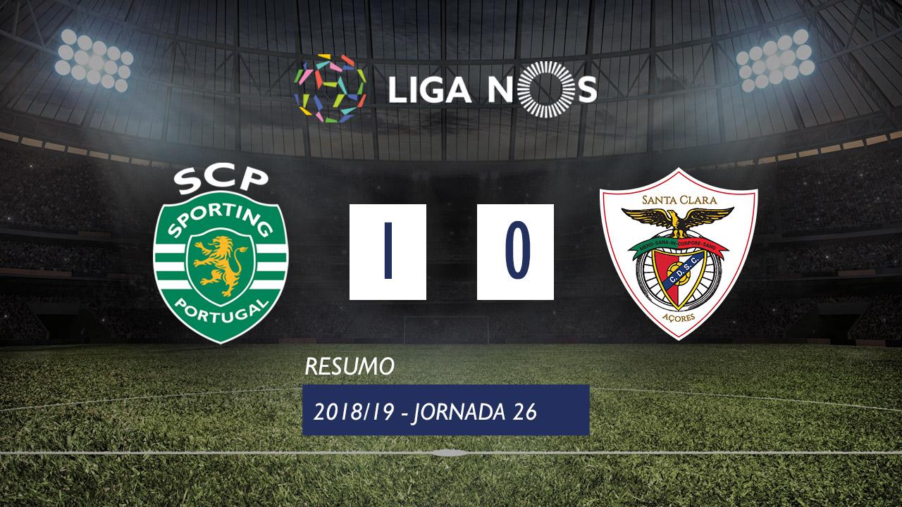 I Liga (26ªJ): Resumo Sporting CP 1-0 Sta. Clara