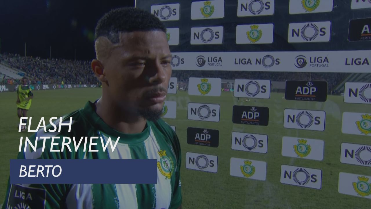 Liga (5ª): Flash interview Berto