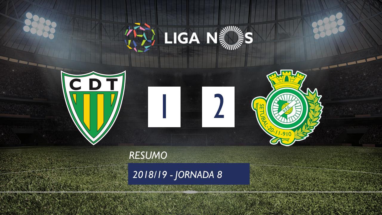 Liga NOS (8ªJ): Resumo CD Tondela 1-2 Vitória FC