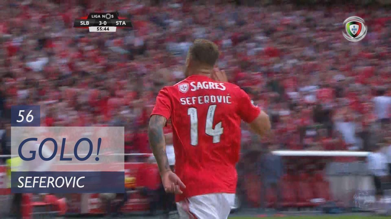 GOLO! SL Benfica, Seferovic aos 56', SL Benfica 4-0 Sta. Clara