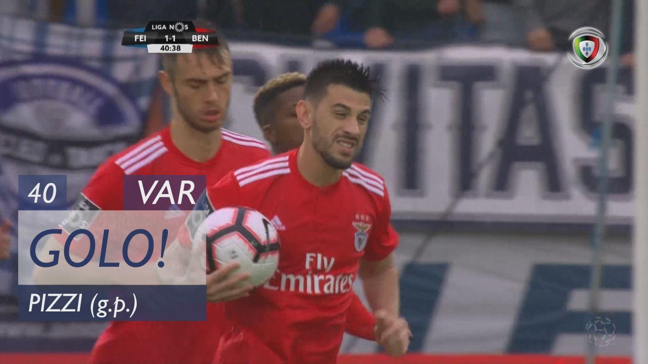 GOLO! SL Benfica, Pizzi aos 40', CD Feirense 1-1 SL Benfica