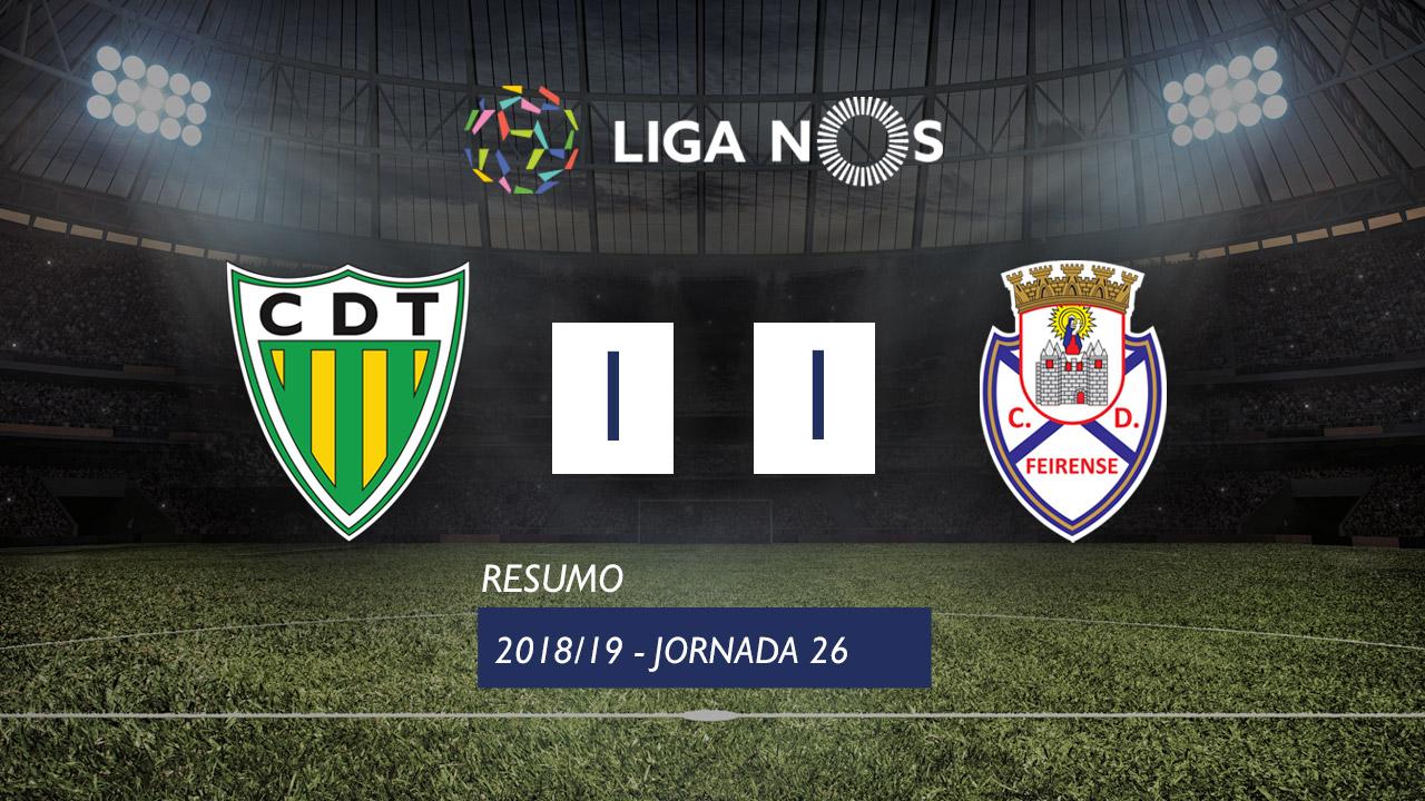 I Liga (26ªJ): Resumo CD Tondela 1-1 CD Feirense