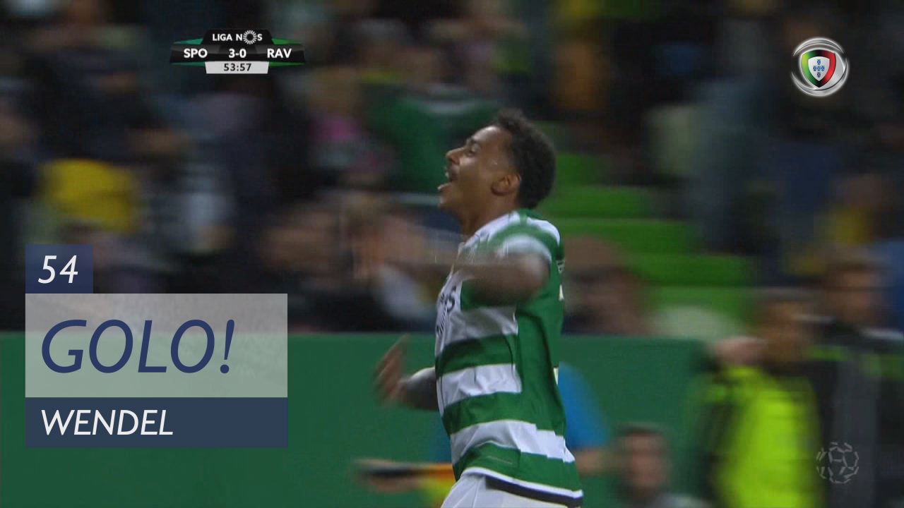 GOLO! Sporting CP, Wendel aos 54', Sporting CP 3-0 Rio Ave FC