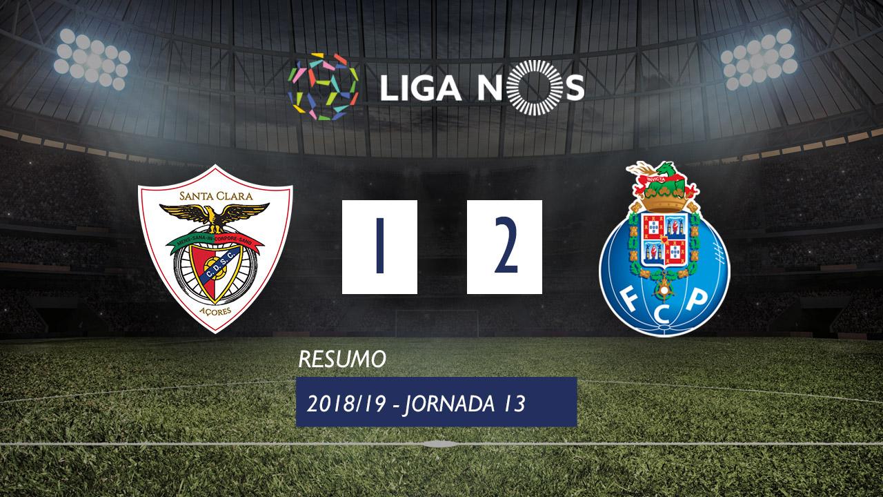 I Liga (13ªJ): Resumo Sta. Clara 1-2 FC Porto