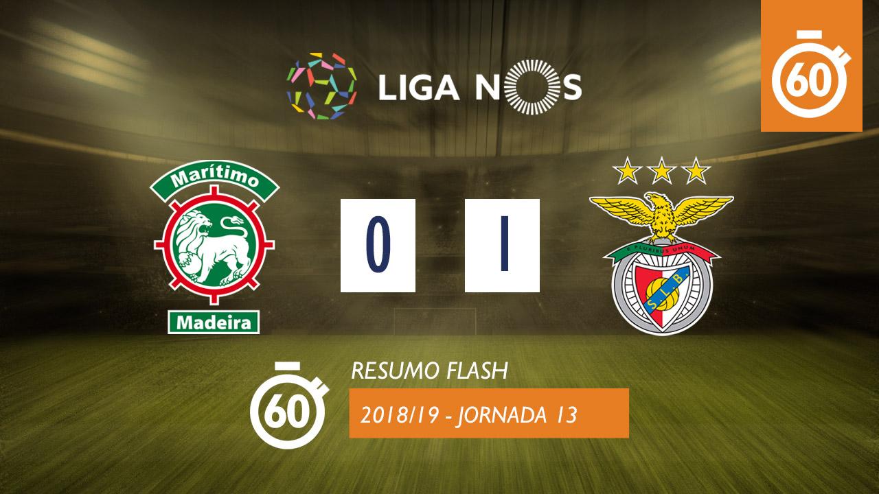 I Liga (13ªJ): Resumo Flash Marítimo M. 0-1 SL Benfica