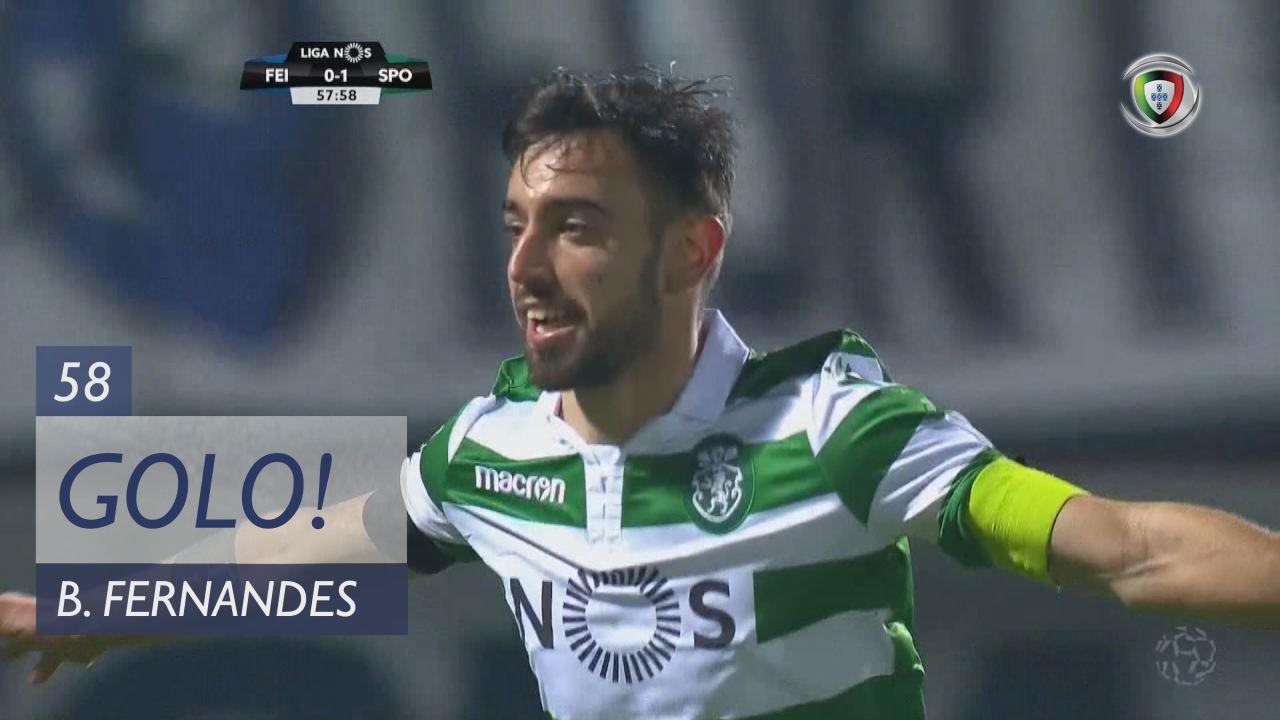 GOLO! Sporting CP, Bruno Fernandes aos 58', CD Feirense 0-2 Sporting CP
