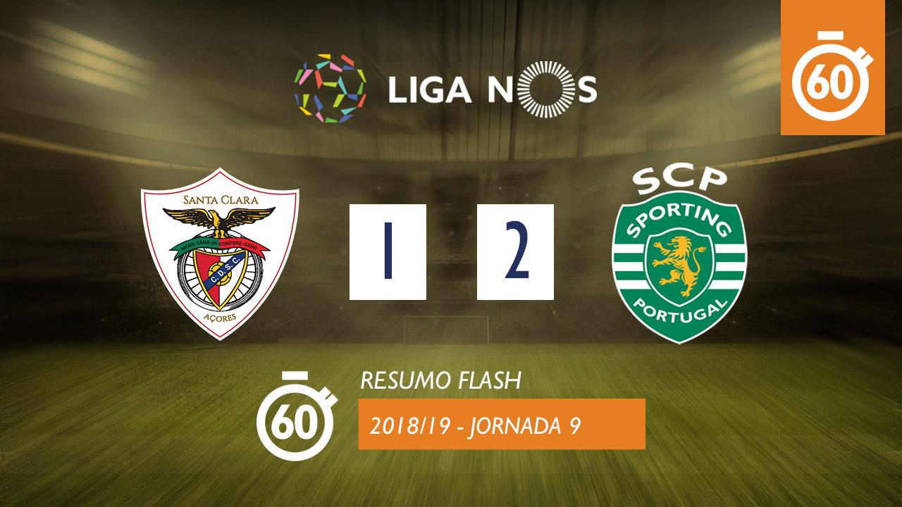 I Liga (9ªJ): Resumo Flash Sta. Clara 1-2 Sporting CP
