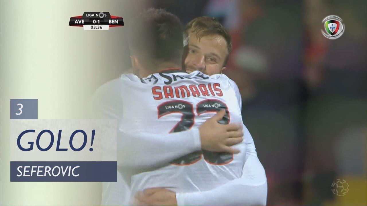 GOLO! SL Benfica, Seferovic aos 3', CD Aves 0-1 SL Benfica