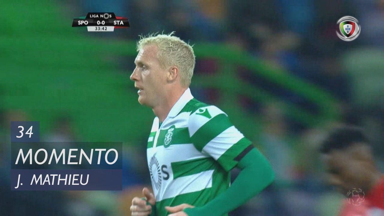 Sporting CP, Jogada, J. Mathieu aos 34'