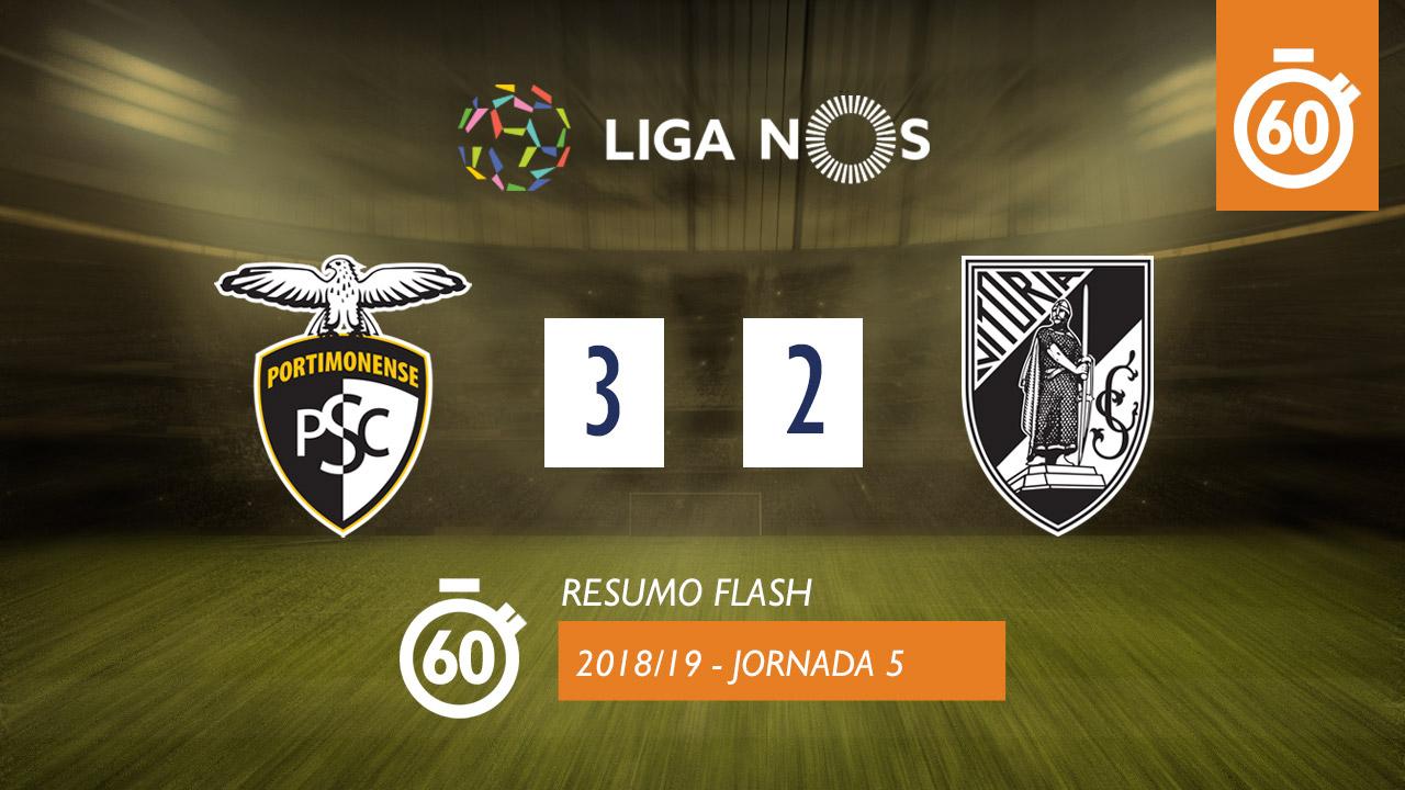 I Liga (5ªJ): Resumo Flash Portimonense 3-2 Vitória SC