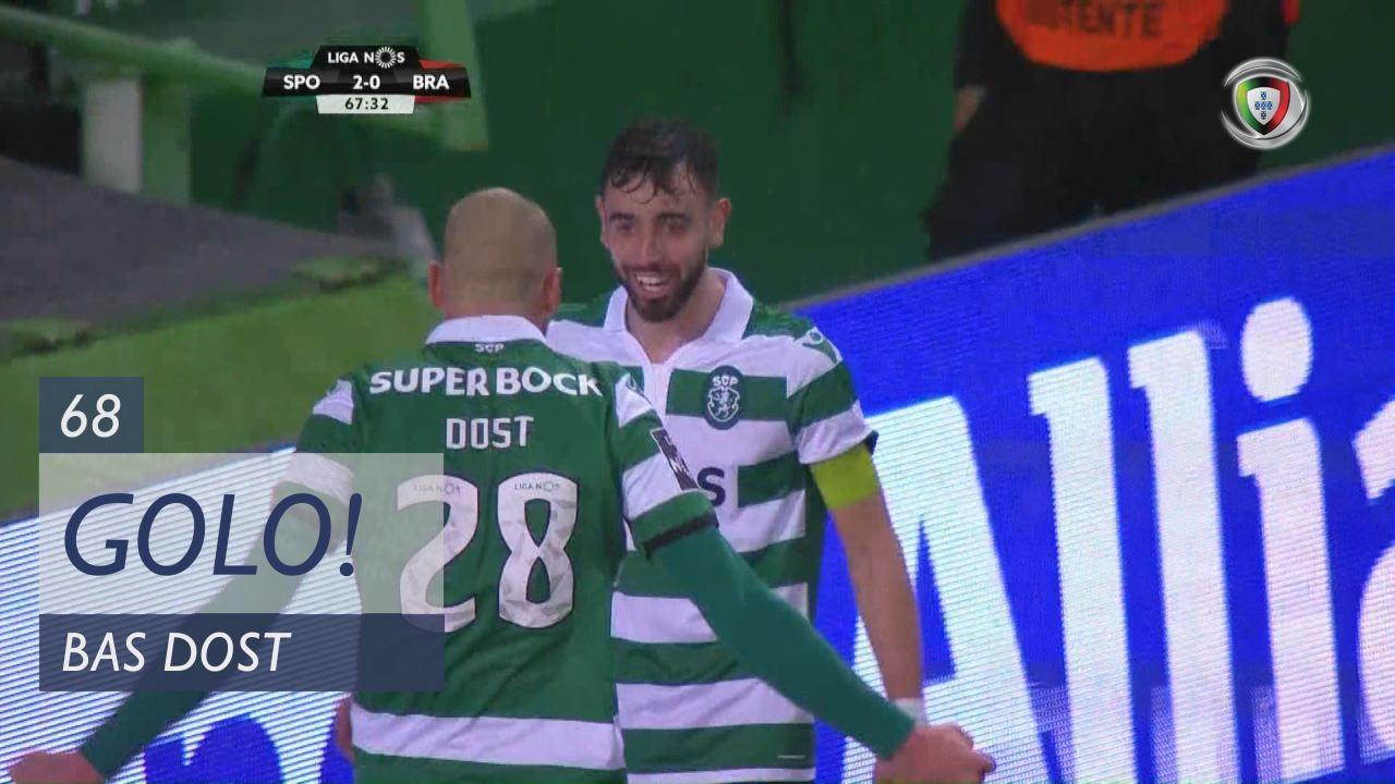 GOLO! Sporting CP, Bas Dost aos 68', Sporting CP 3-0 SC Braga