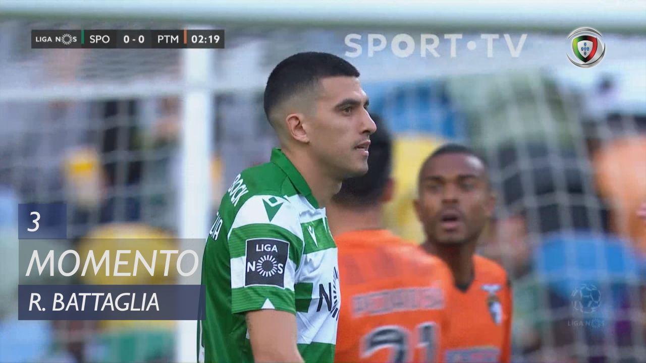 Sporting CP, Jogada, Rodrigo Battaglia aos 3'