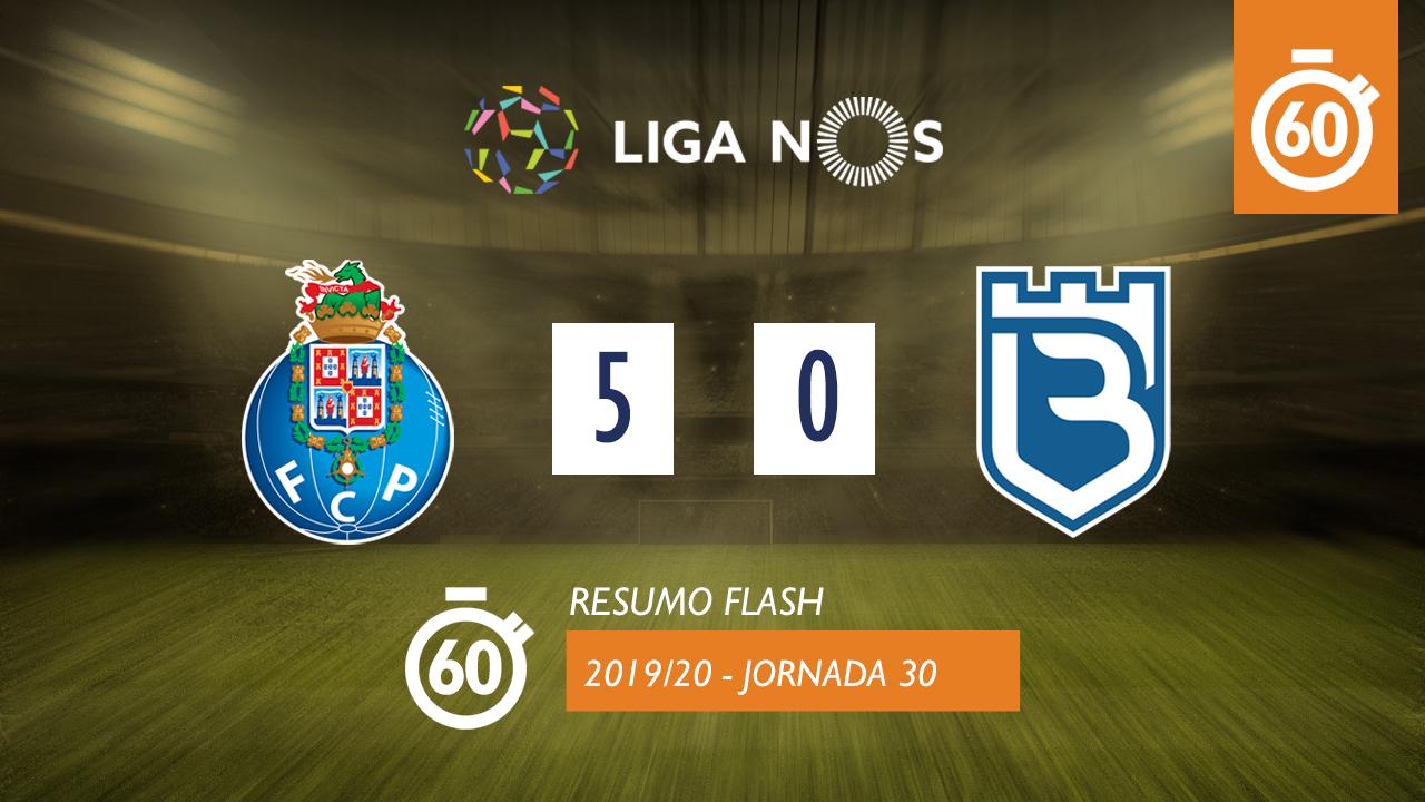 I Liga (30ªJ): Resumo Flash FC Porto 5-0 Belenenses