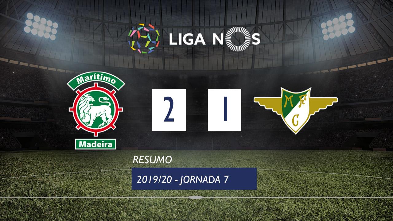 Liga NOS (7ªJ): Resumo Marítimo M. 2-1 Moreirense FC