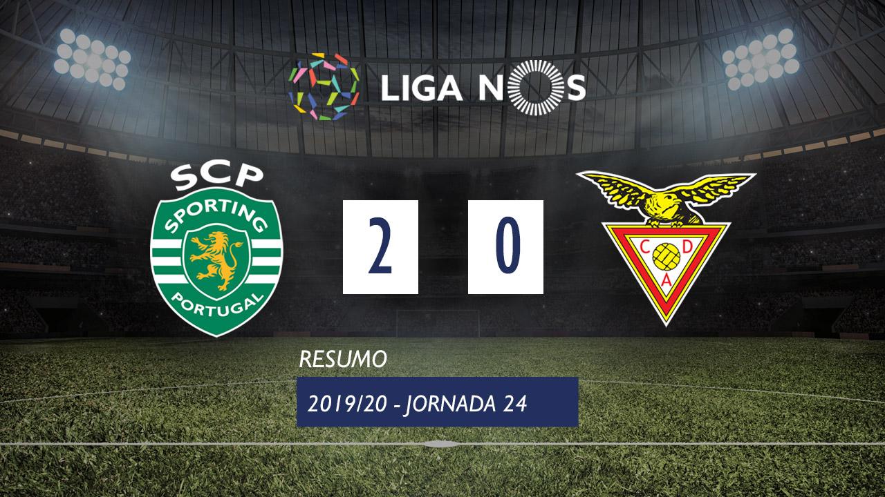 I Liga (24ªJ): Resumo Sporting CP 2-0 CD Aves