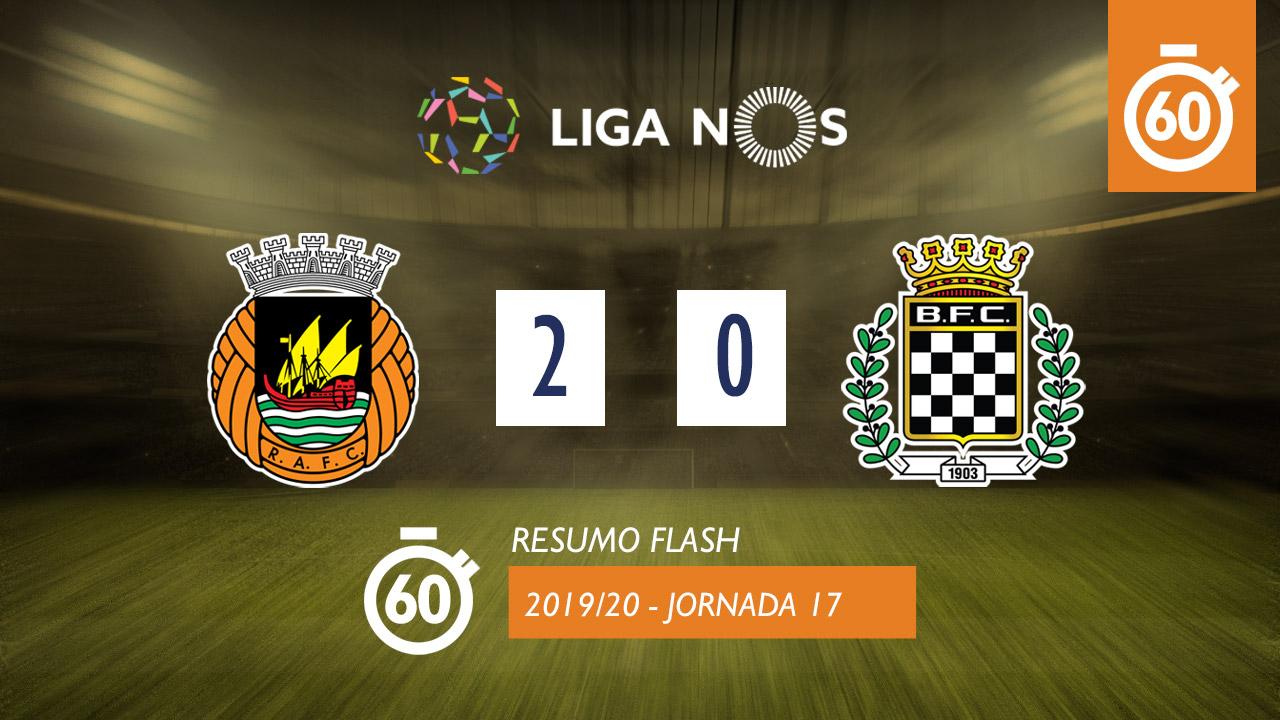 I Liga (17ªJ): Resumo Flash Rio Ave FC 2-0 Boavista FC