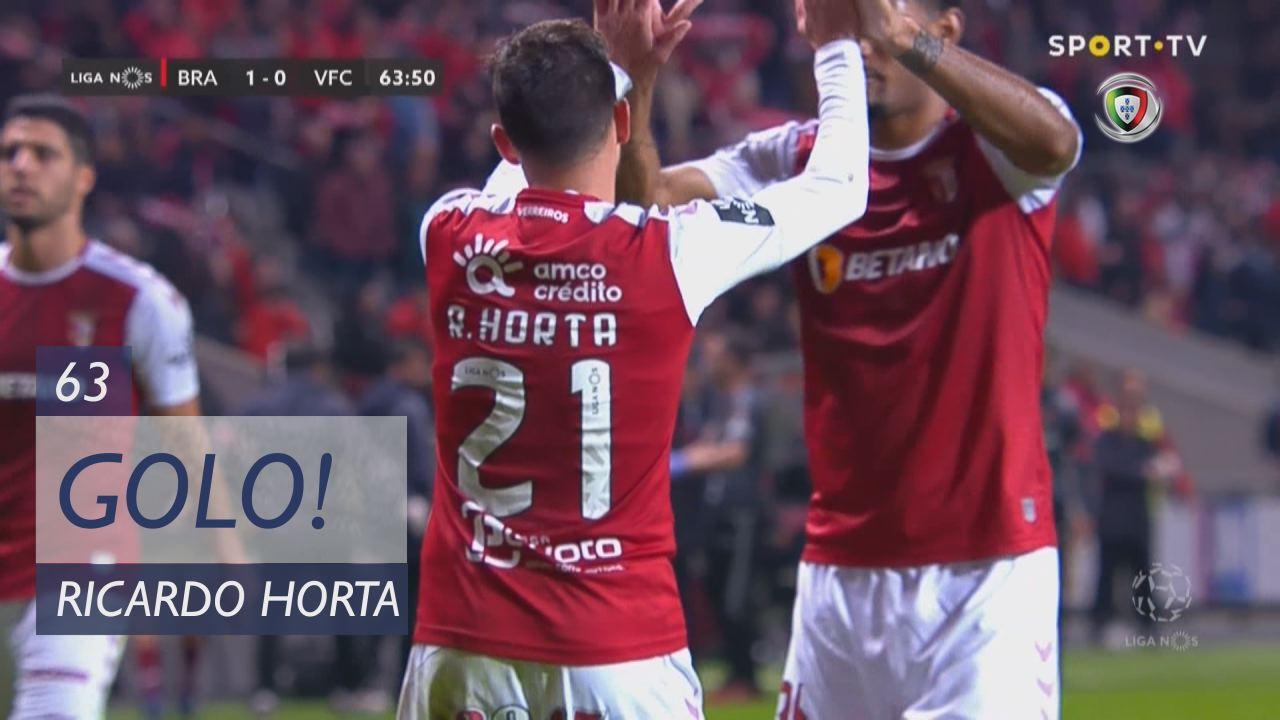 GOLO! SC Braga, Ricardo Horta aos 63', SC Braga 1-...