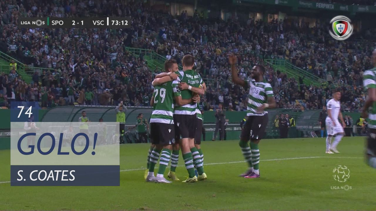 GOLO! Sporting CP, S. Coates aos 74', Sporting CP 3-1 Vitória SC