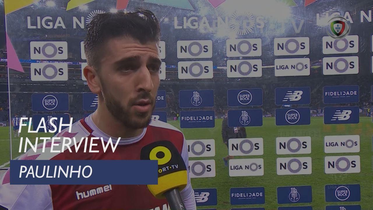 Liga (17ª): Flash Interview Paulinho