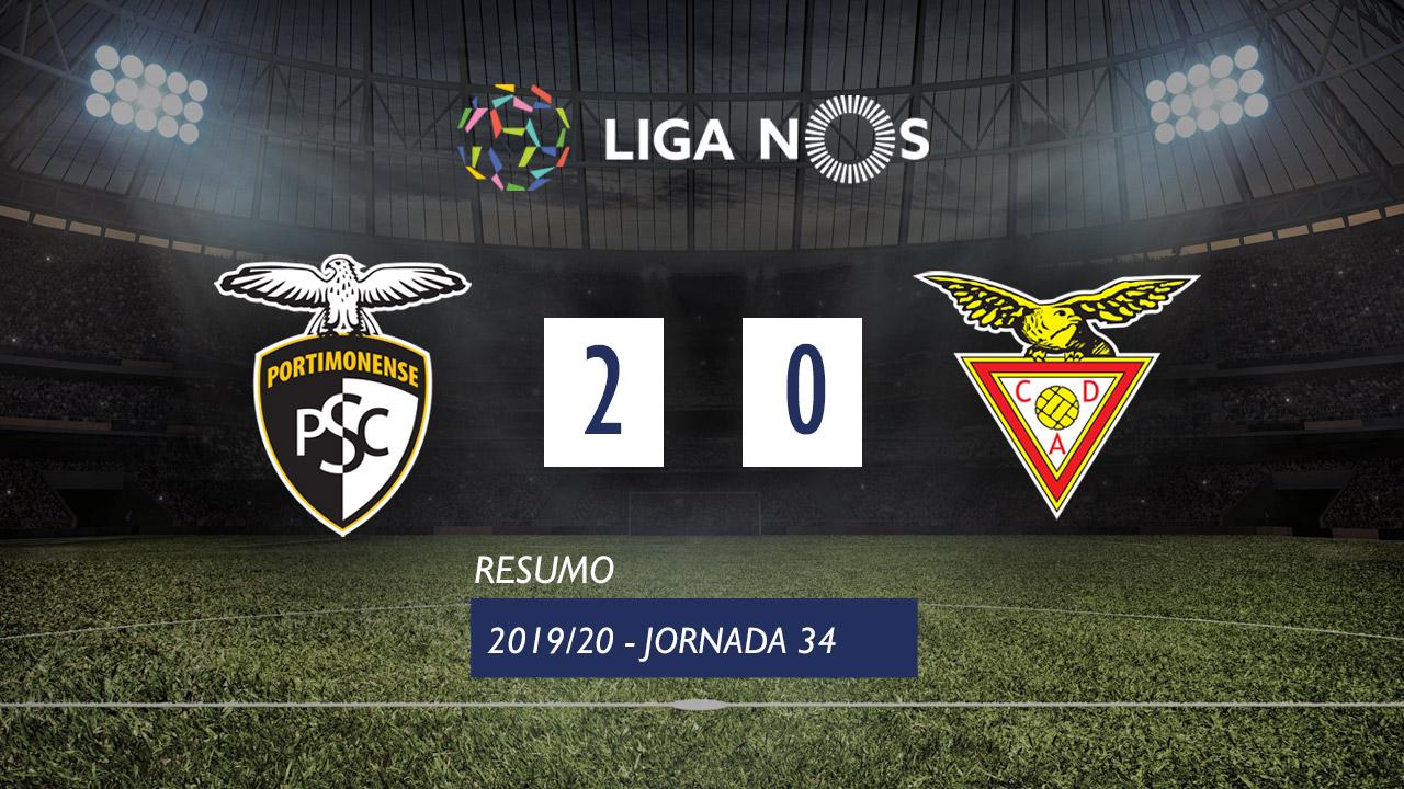 Liga NOS (34ªJ): Resumo Portimonense 2-0 CD Aves