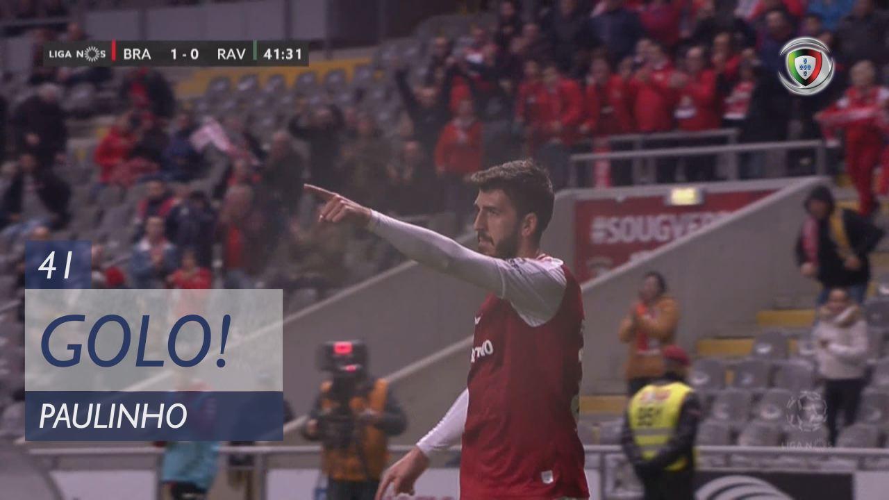 GOLO! SC Braga, Paulinho aos 41', SC Braga 1-0 Rio...