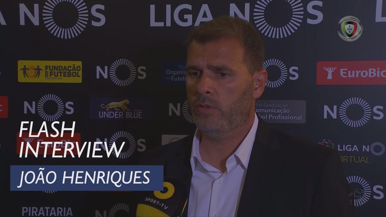 Liga (6ª): Flash Interview João Henriques