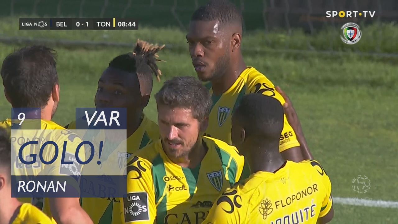 GOLO! CD Tondela, Ronan aos 9', Belenenses 0-1 CD ...