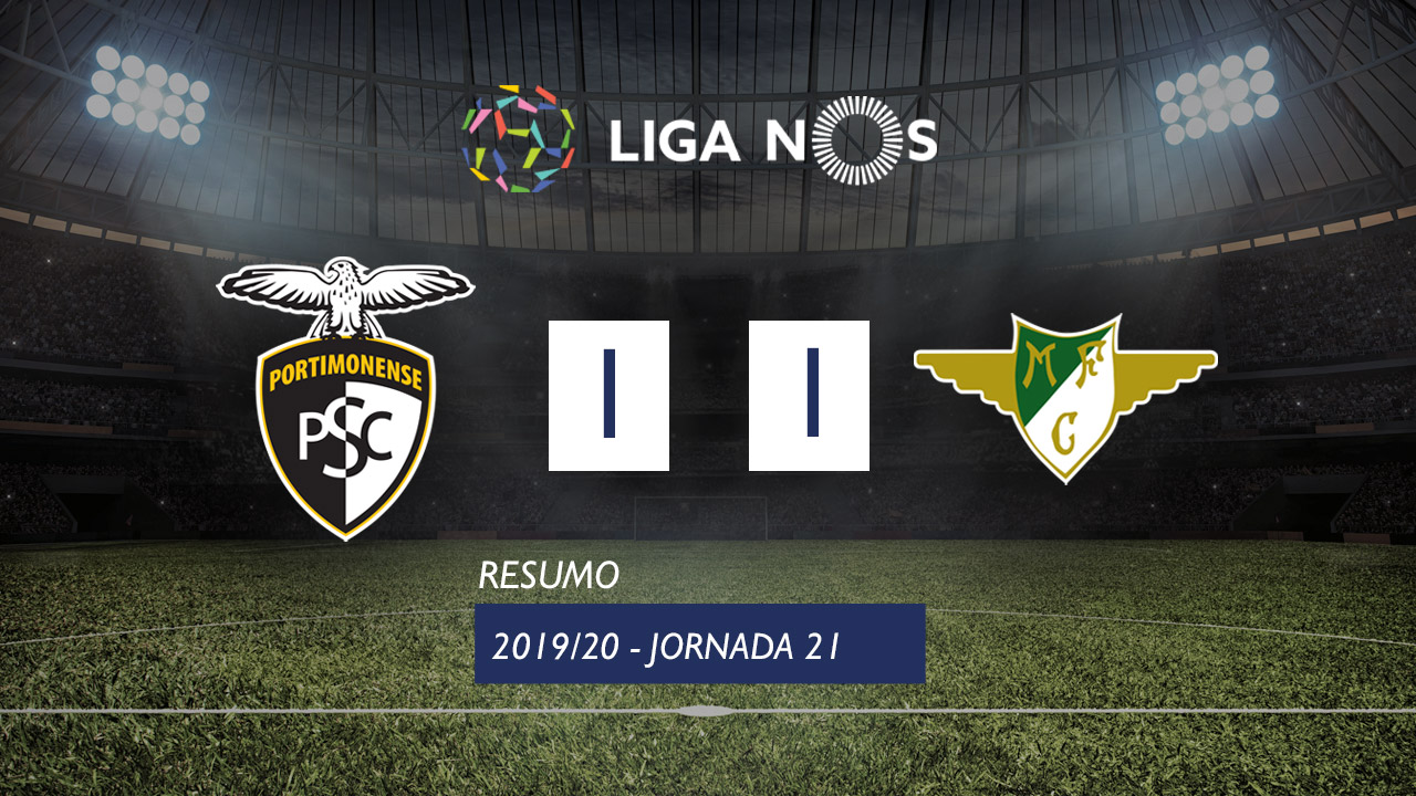 Liga NOS (21ªJ): Resumo Portimonense 1-1 Moreirense FC