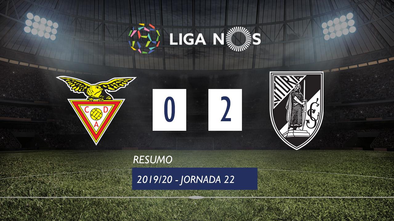 Liga NOS (22ªJ): Resumo CD Aves 0-2 Vitória SC