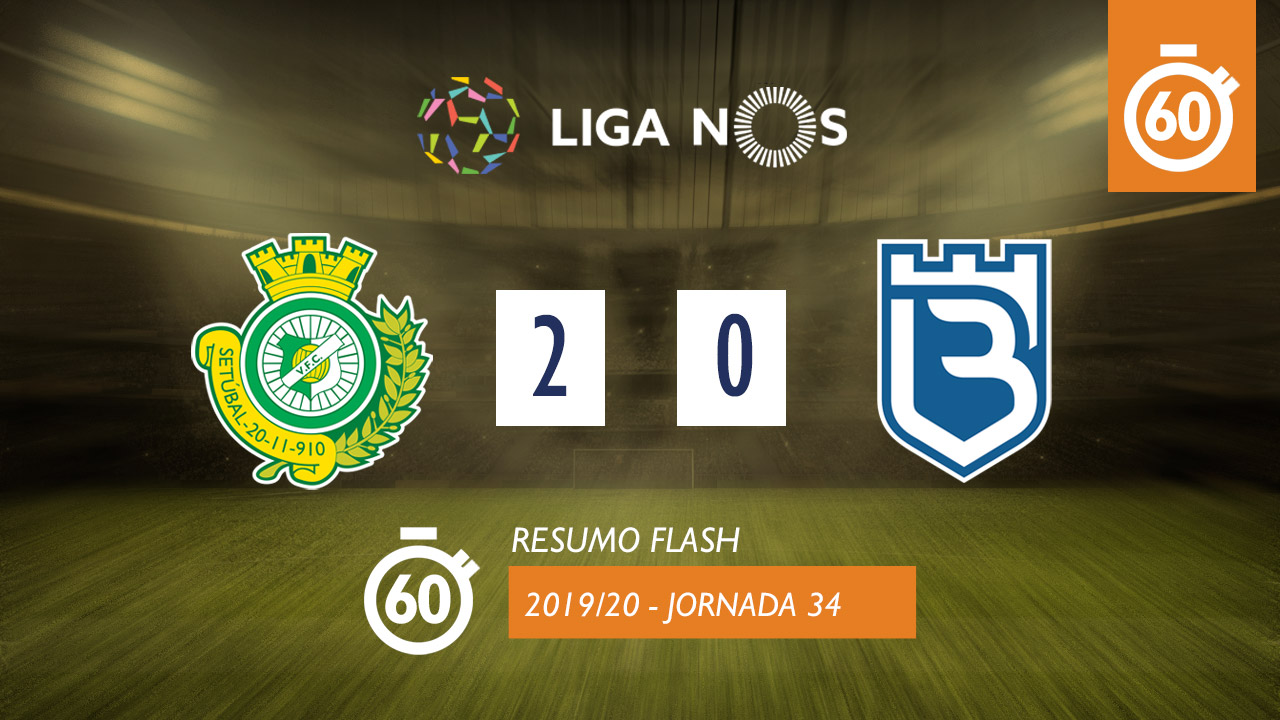I Liga (34ªJ): Resumo Flash Vitória FC 2-0 Belenenses