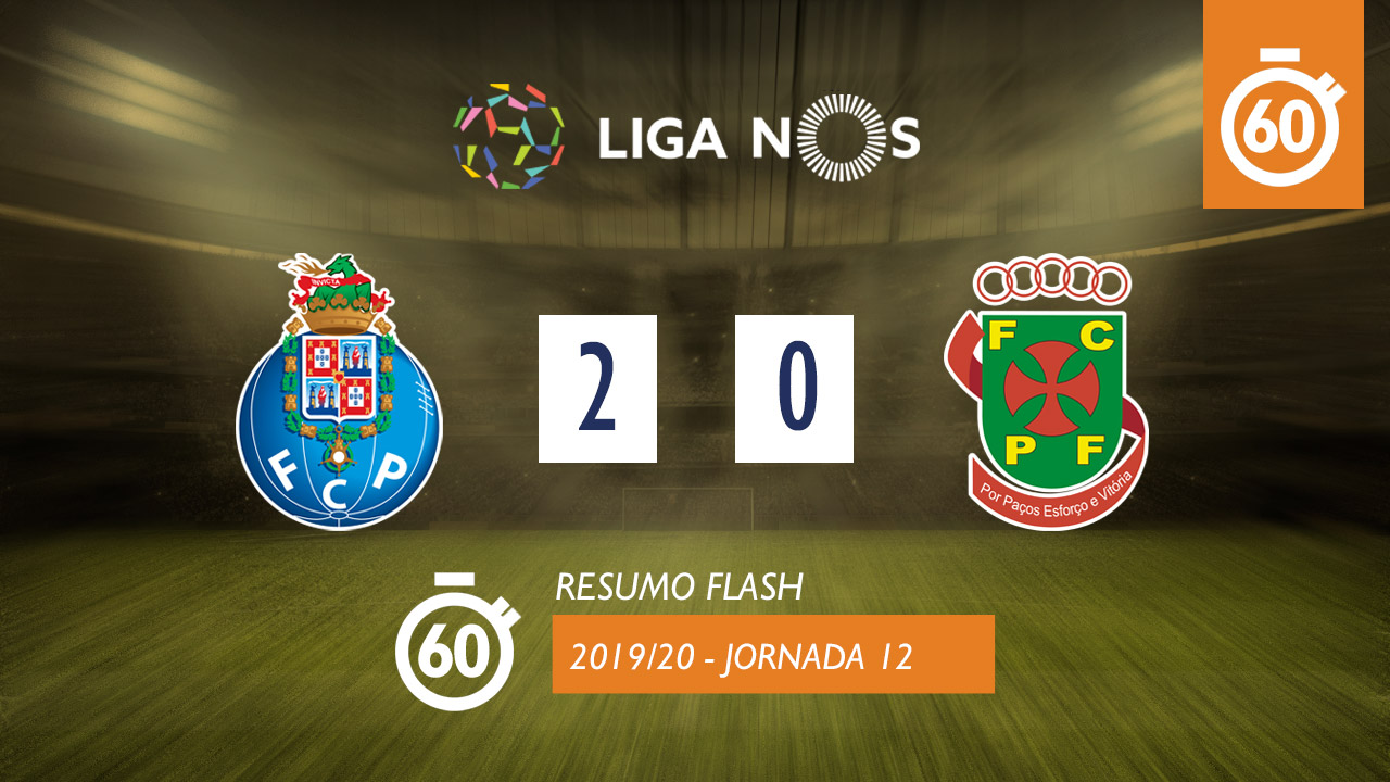 I Liga (12ªJ): Resumo Flash FC Porto 2-0 FC P.Ferreira