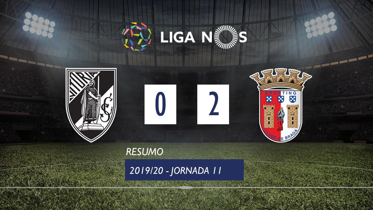 Liga NOS (11ªJ): Resumo Vitória SC 0-2 SC Braga