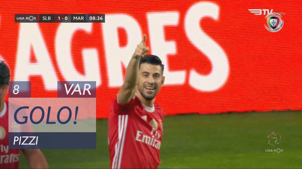GOLO! SL Benfica, Pizzi aos 8', SL Benfica 1-0 Marítimo M.