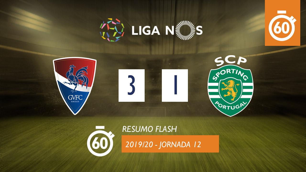 I Liga (12ªJ): Resumo Flash Gil Vicente FC 3-1 Sporting CP