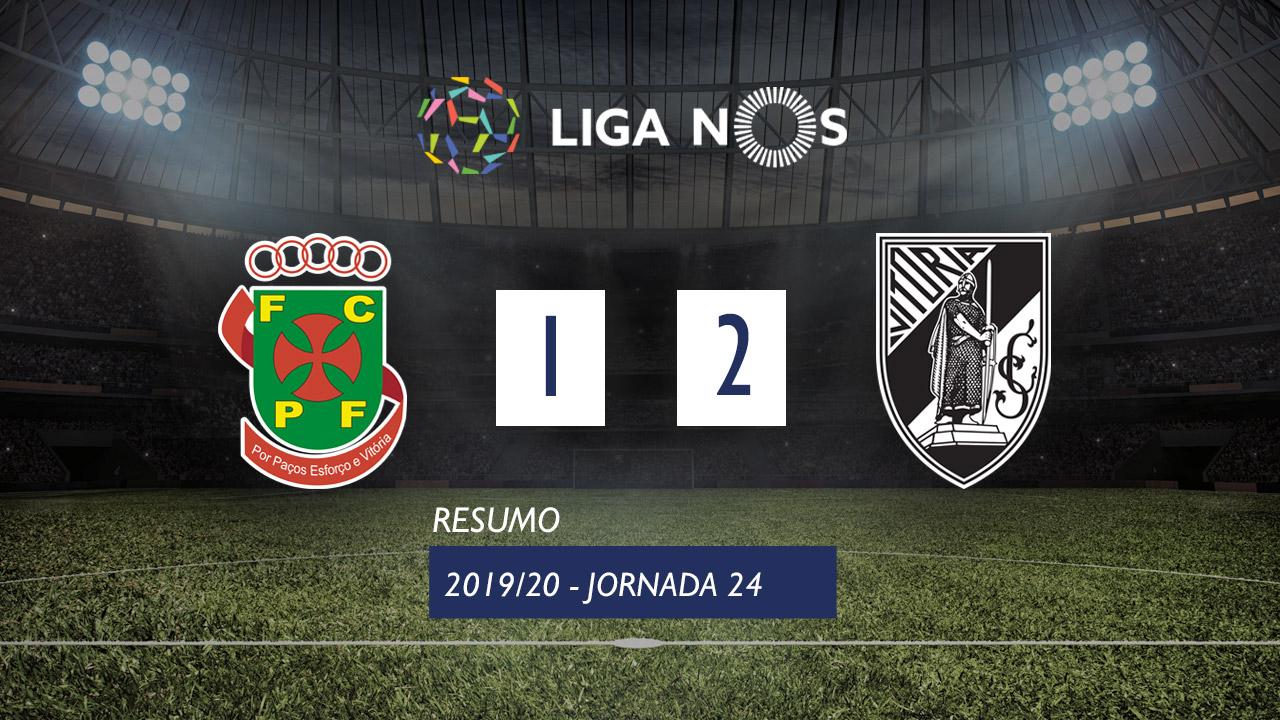 I Liga (24ªJ): Resumo FC P.Ferreira 1-2 Vitória SC