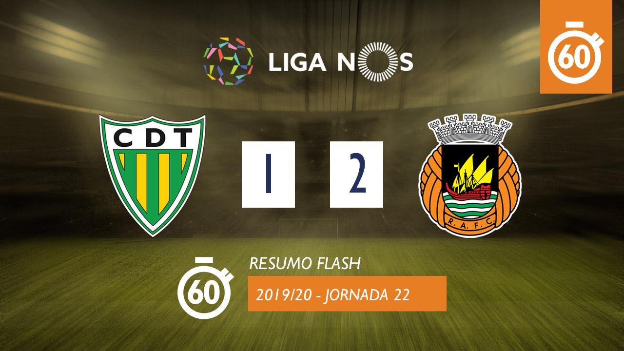I Liga (22ªJ): Resumo Flash CD Tondela 1-2 Rio Ave FC