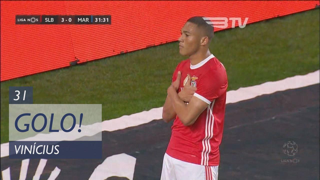 GOLO! SL Benfica, Vinícius aos 31', SL Benfica 3-0 Marítimo M.