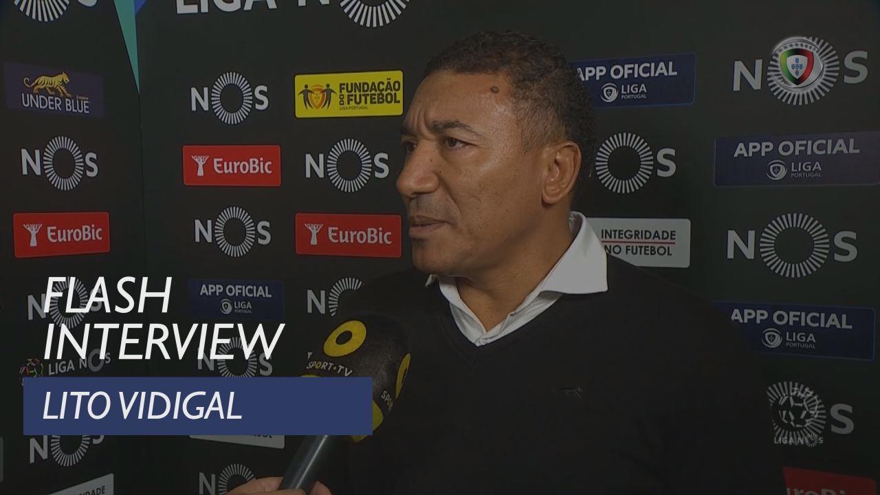 Liga (11ª): Flash Interview Lito Vidigal