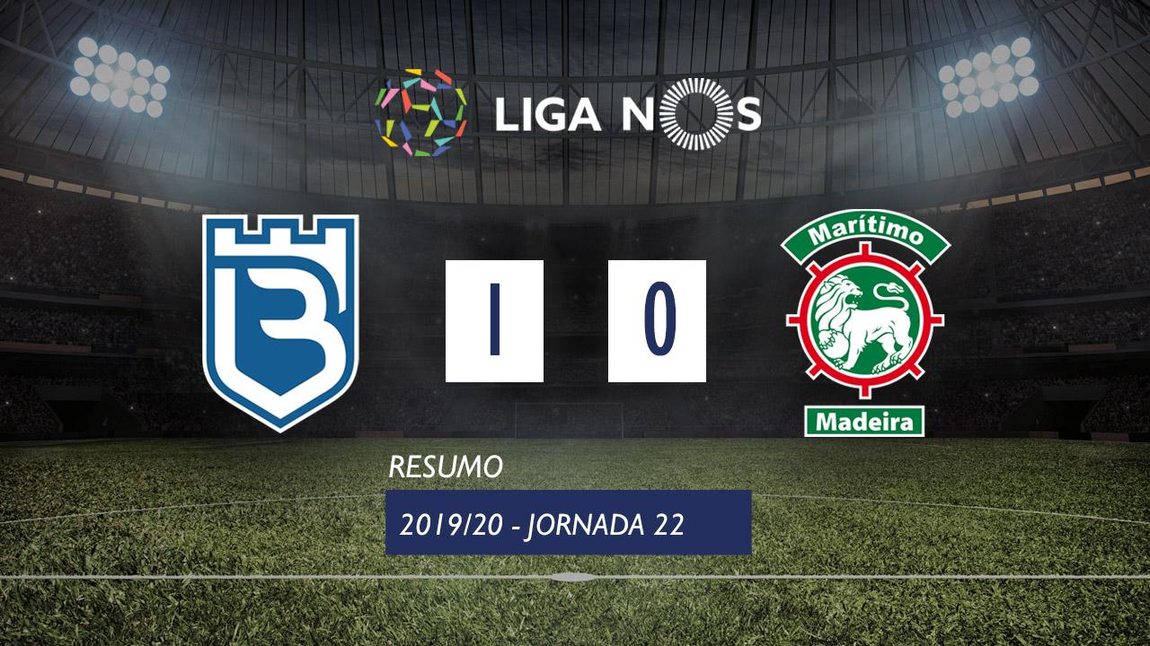 Liga NOS (22ªJ): Resumo Belenenses 1-0 Marítimo M.