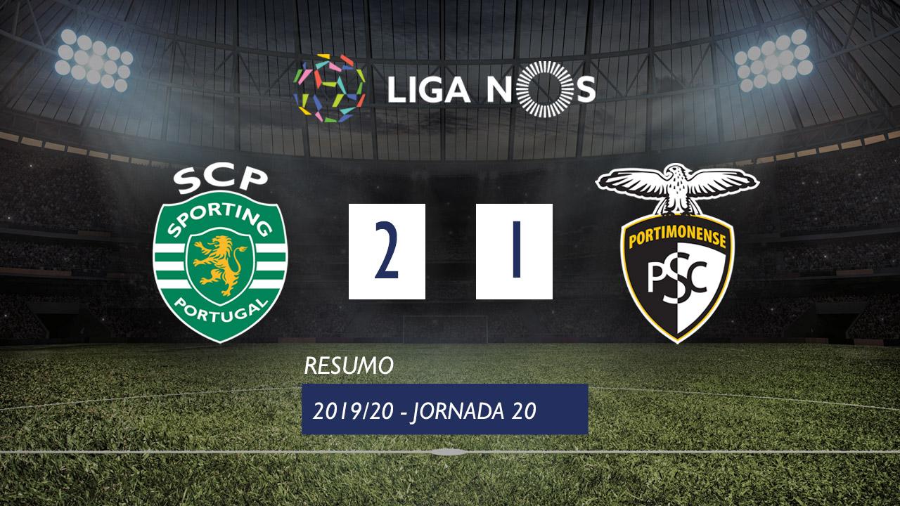 I Liga (20ªJ): Resumo Sporting CP 2-1 Portimonense