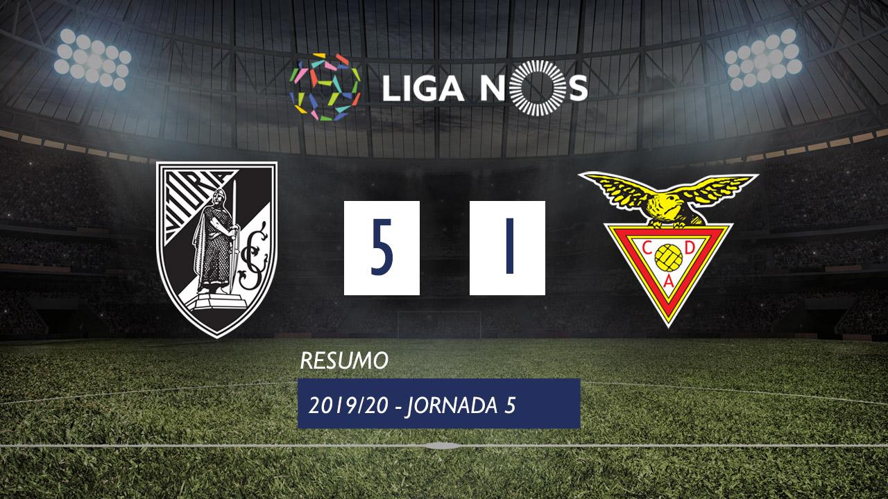 I Liga (5ªJ): Resumo Vitória SC 5-1 CD Aves